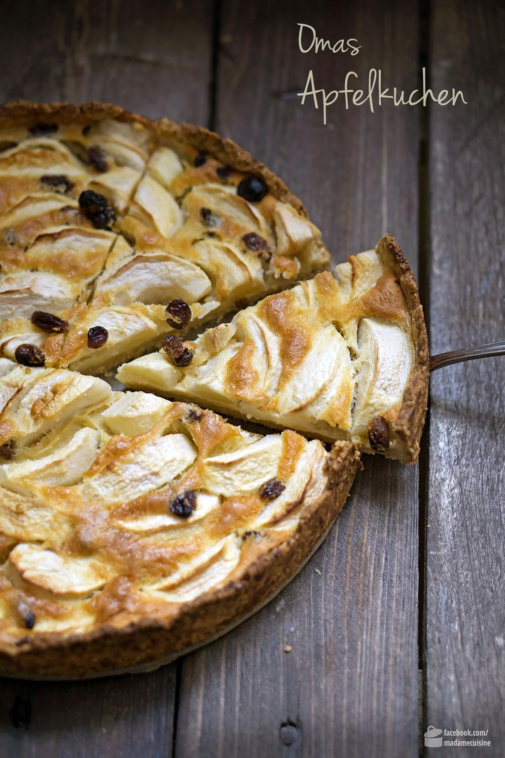 Omas Apfelkuchen mit Mürbeteig | Madame Cuisine Rezept