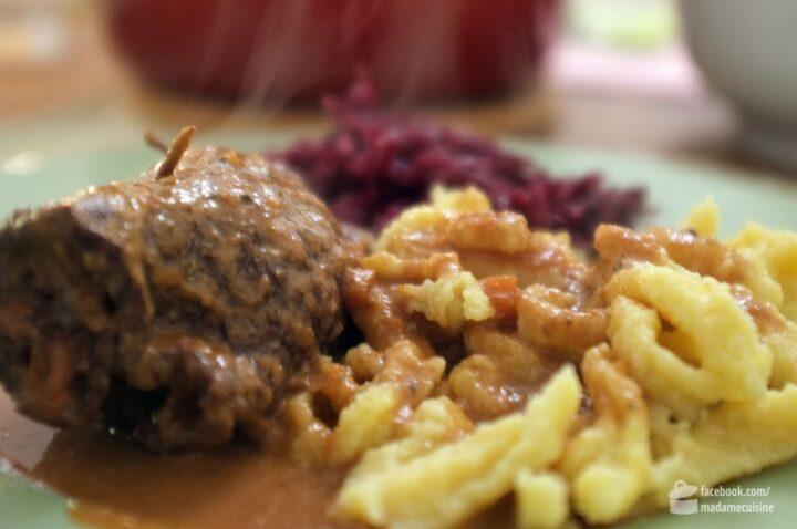 Rouladen mit Spätzle und Rotkohl | Madame Cuisine