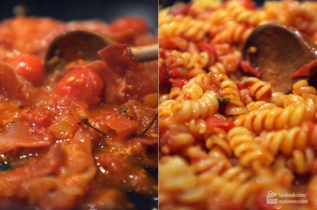 Pasta con Pancetta e Pomodorini | Madame Cuisine Rezept