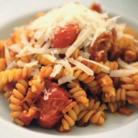 Pasta con Pancetta e Pomodorini | Madame Cuisine