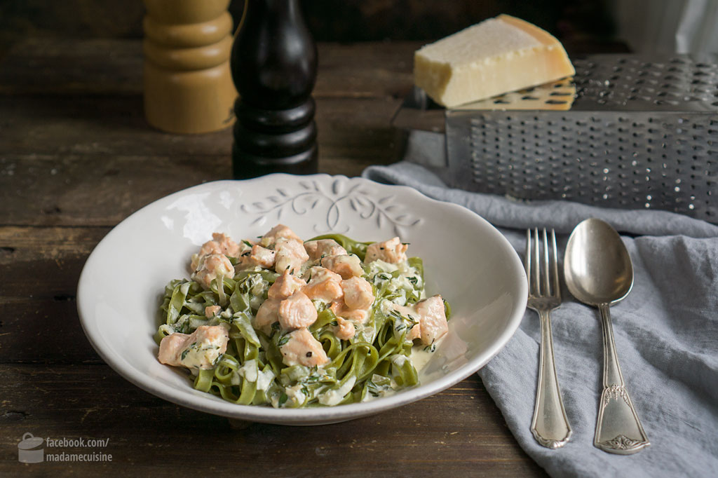 Tagliatelle mit Lachs | Madame Cuisine Rezept