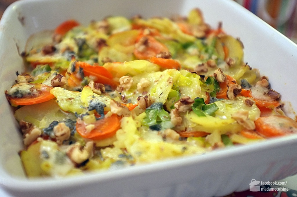 Gemüseauflauf mit Gorgonzola und Walnüssen | Madame Cuisine Rezept