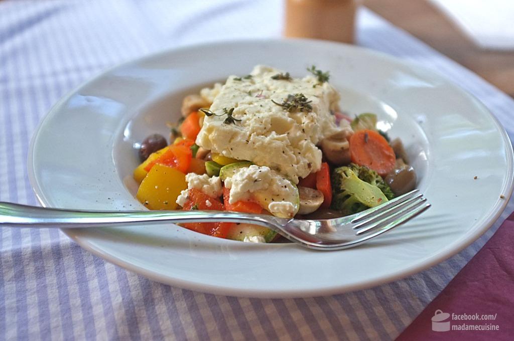 Lauwarmer Gemüsesalat mit Feta | Madame Cuisine
