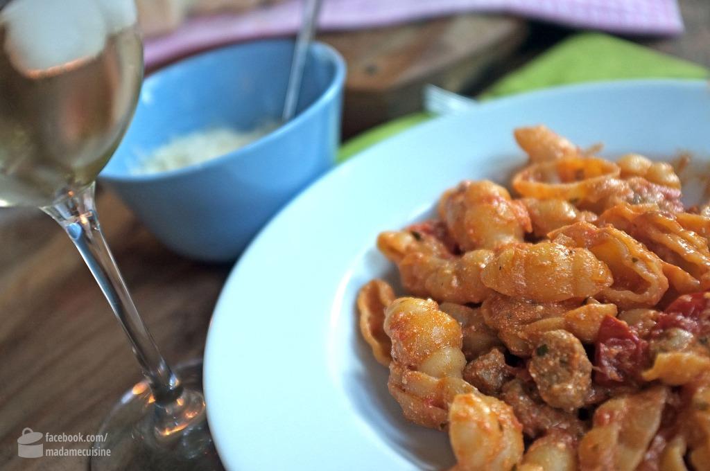 Pasta mit Salsiccia & Ricotta | Madame Cuisine Rezept
