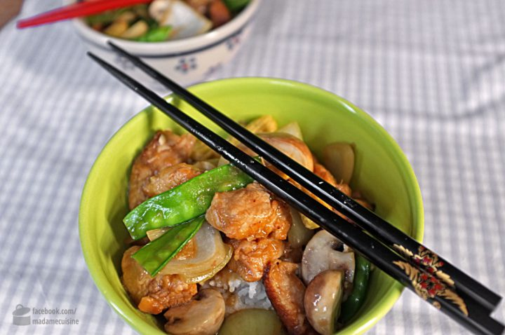 Knackiges Wok-Gemüse mit Huhn | Madame Cuisine