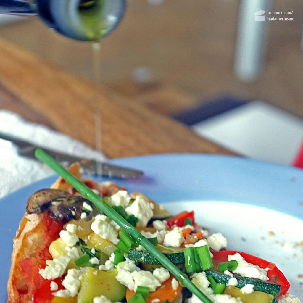 Fladenbrot-Pizza mit Sommergemüse | Madame Cuisine Rezept