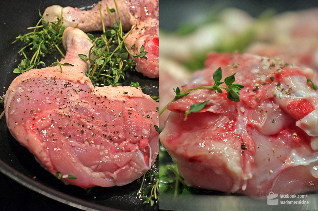 Huhn geschmort in Weißwein, Sahne & Thymian | Madame Cuisine Rezept