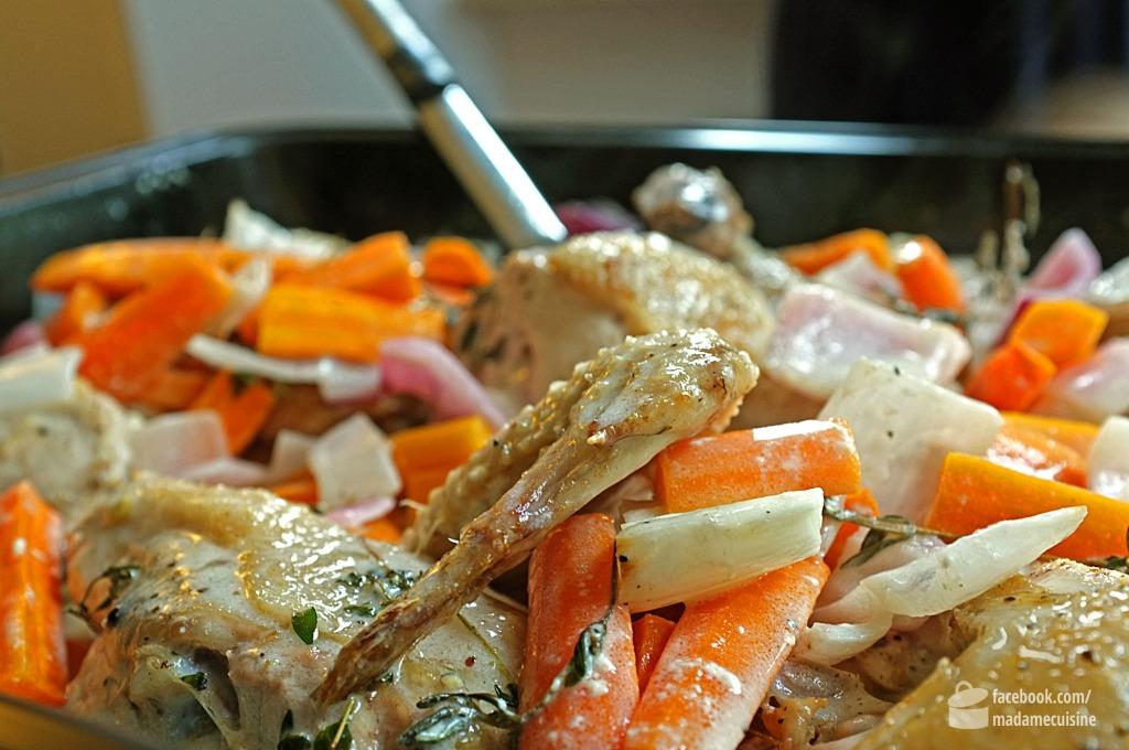 Huhn geschmort in Weißwein, Sahne & Thymian | Madame Cuisine