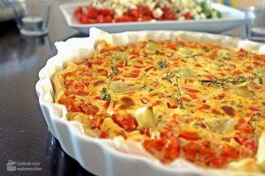 Paprika-Quiche mit Feta | Madame Cuisine