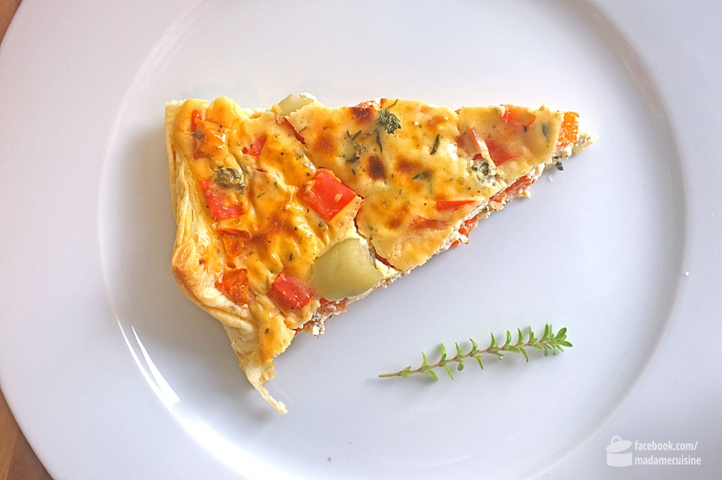 Paprika-Quiche mit Feta | Madame Cuisine Rezept