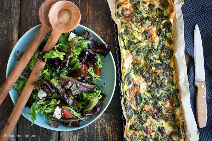 Tarte mit Spinat & Gorgonzola | Madame Cuisine Rezept