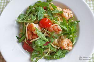 Spaghetti aglio e olio con Gamberetti | Madame Cuisine