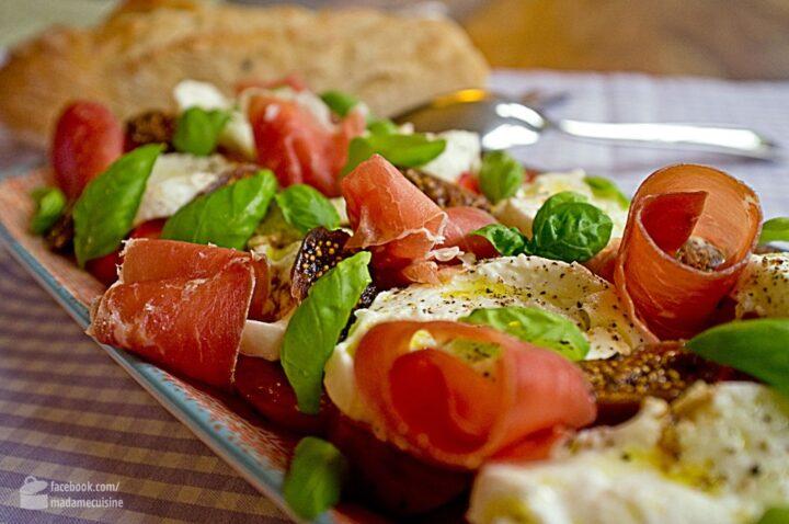 Caprese mit Feigen und Parmaschinken | Madame Cuisine