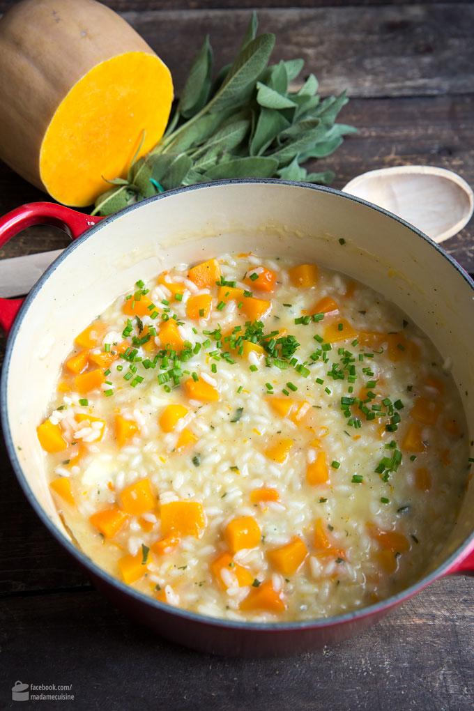 Kürbisrisotto mit Salbei und zweierlei Käse | Madame Cuisine Rezept