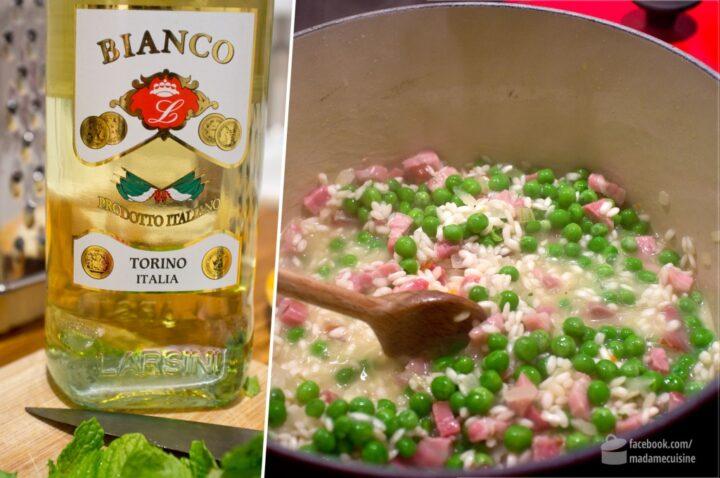 Risotto mit Erbsen, Speck und Minze | Madame Cuisine