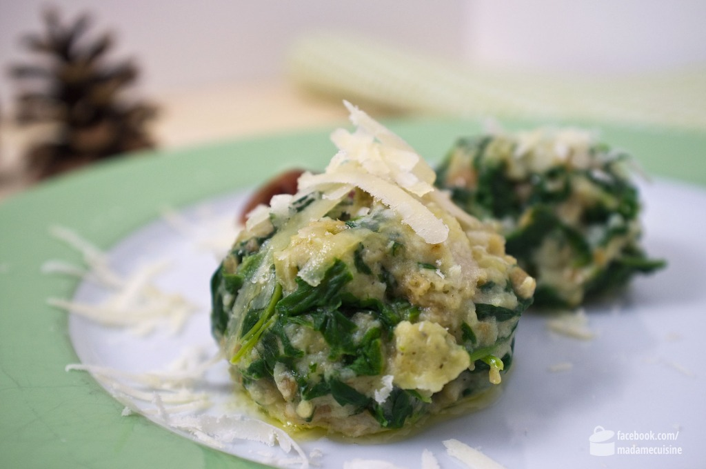 Südtiroler Spinatknödel | Madame Cuisine Rezept
