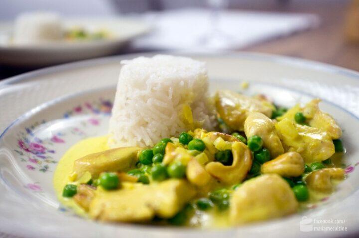 Erbsen-Curry (mit Huhn) | Madame Cuisine