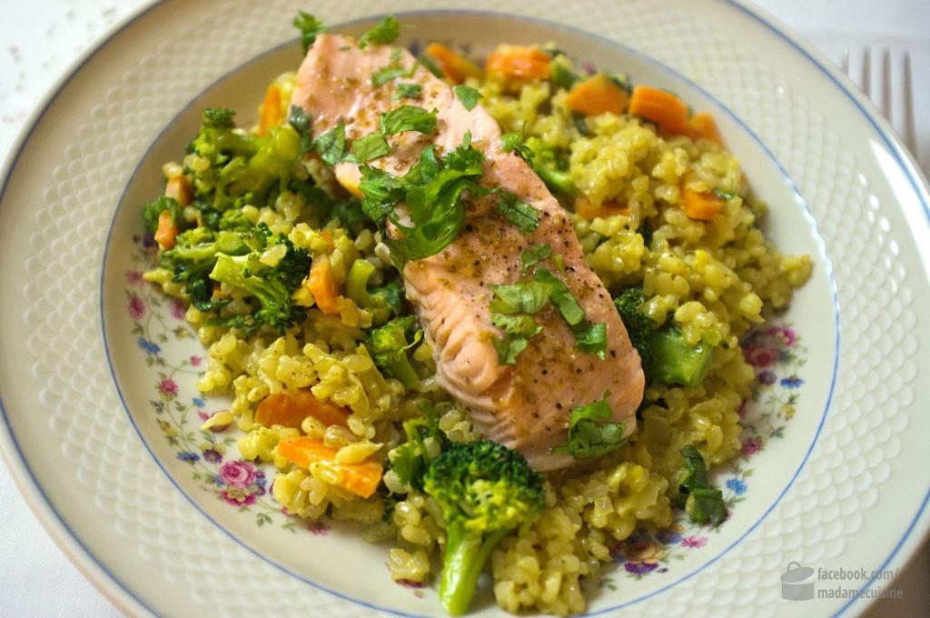 Camargue reis mit gem se und lachsfilets madame cuisine - Reis kochen tasse ...