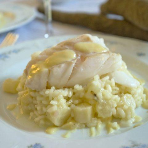 Weiß wie der Schnee: Risotto mit Schwarzwurzeln und gedünstetem Kabeljau | Madame Cuisine