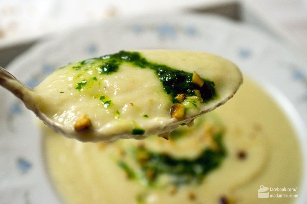 Schwarzwurzelcremesuppe & Petersilienöl | Madame Cuisine Rezept