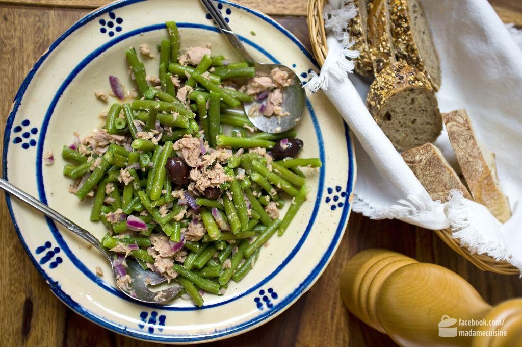 Bohnensalat mit Thunfisch und Oliven | Madame Cuisine Rezept