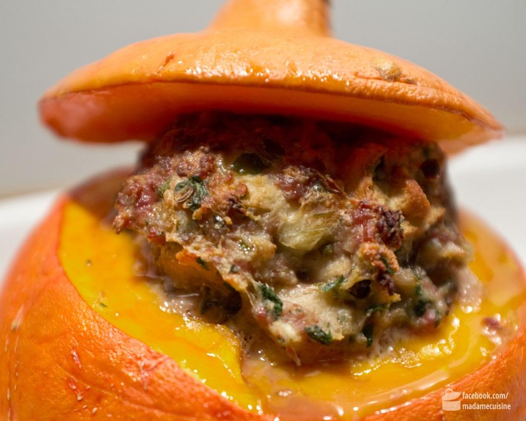 Kürbis gefüllt mit Hackfleisch | Madame Cuisine Rezept