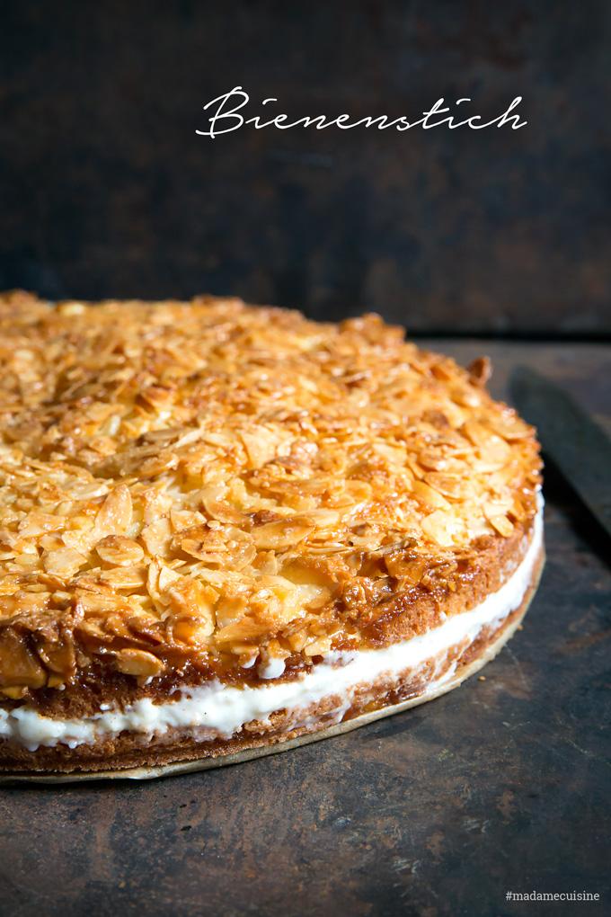 Bienenstich mit Puddingcreme: Knusprig süß | Madame Cuisine Rezept