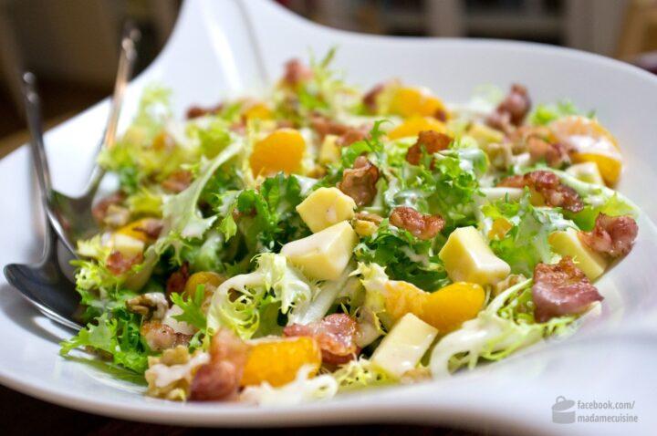 Frisée Salat mit Mandarinen, Käse und Bacon | Madame Cuisine