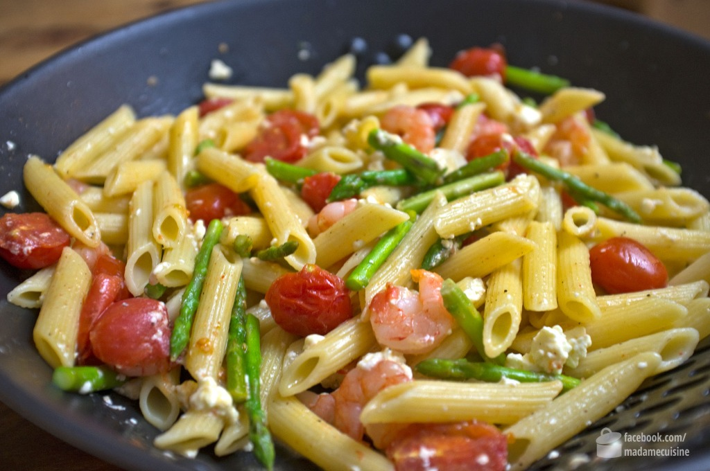 Penne mit Scampi und Thai-Spargel | Madame Cuisine Rezept