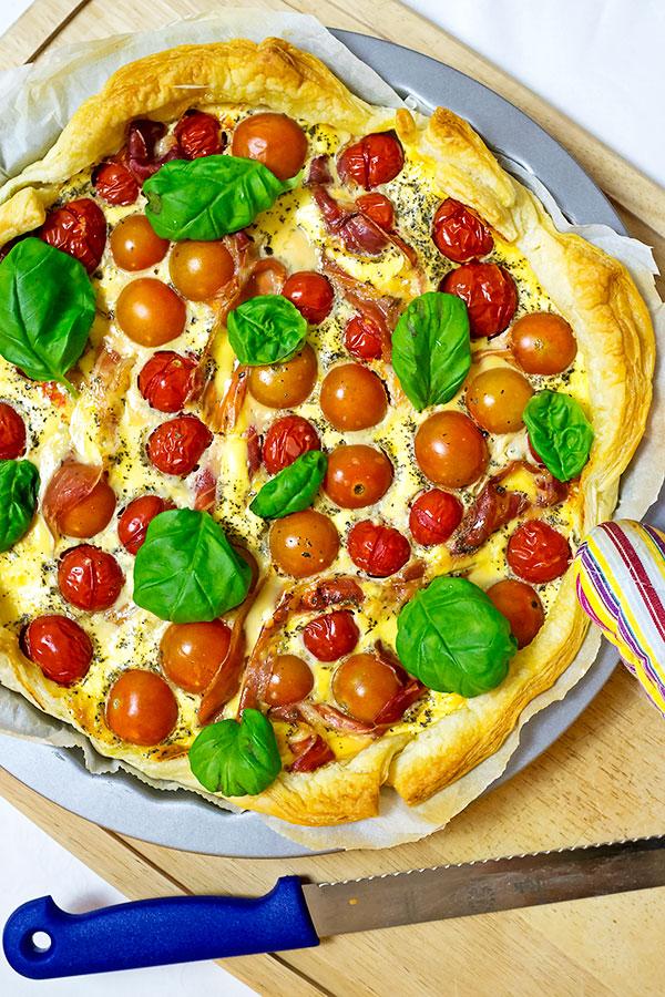 Quiche mit Kirschtomaten & Parmaschinken | Madame Cuisine Rezept