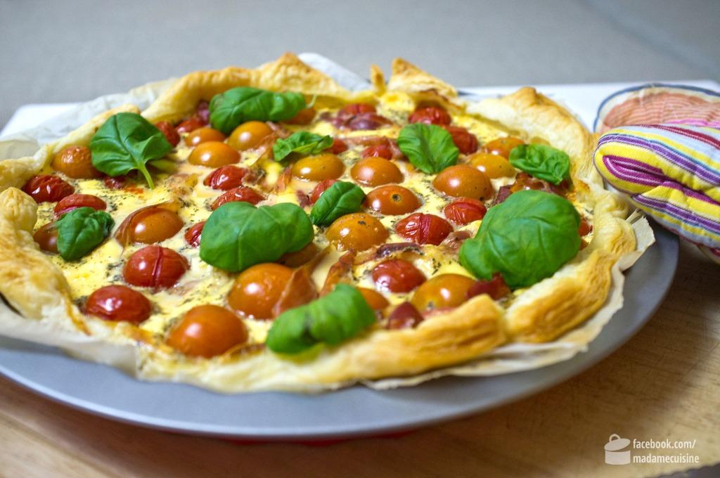 Quiche mit Kirschtomaten & Parmaschinken | Madame Cuisine