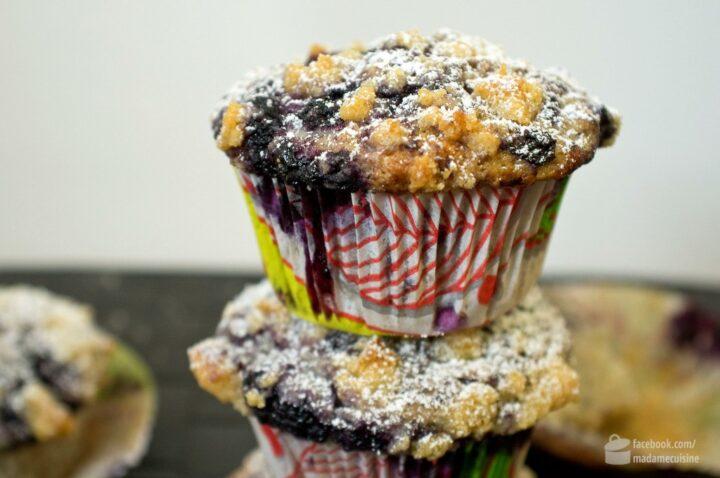 Blaubeer-Muffins mit Streuseln | Madame Cuisine