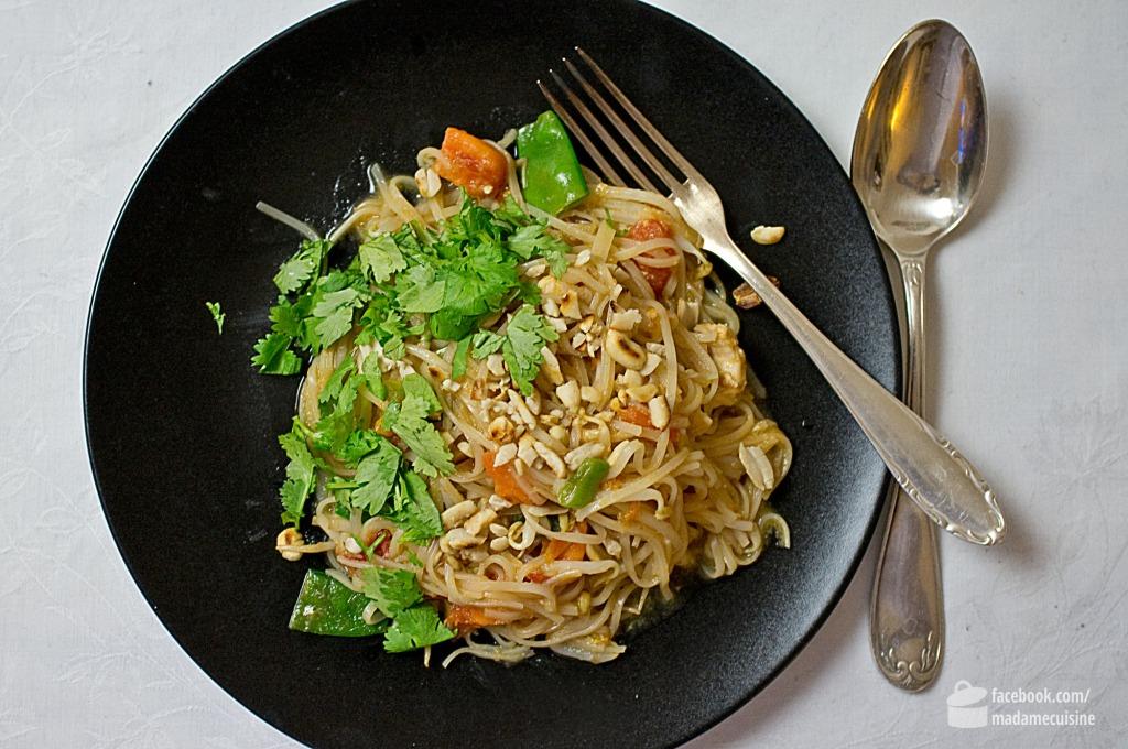 Pad Thai Rezept (gebratene Thai-Nudeln) | Madame Cuisine Rezept