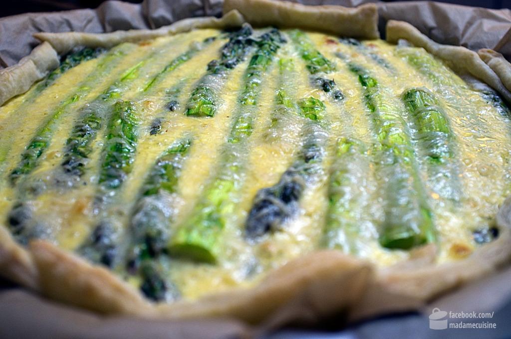 Tarte mit grünem Spargel | Madame Cuisine Rezept