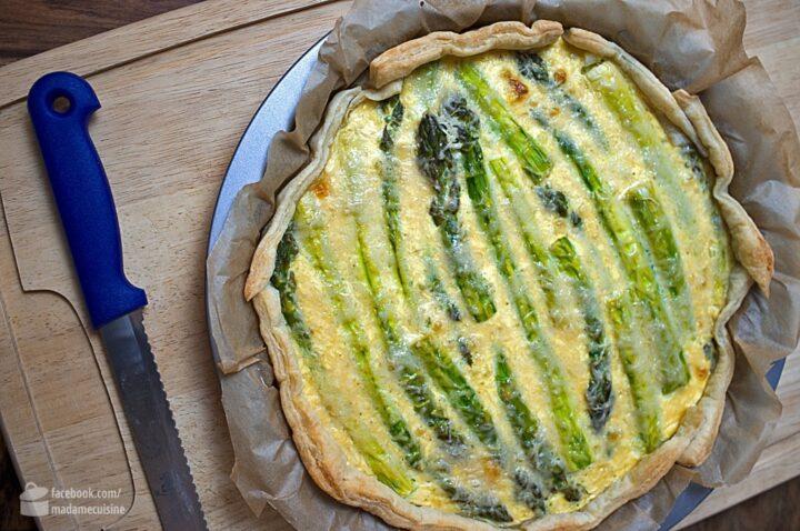 Tarte mit grünem Spargel | Madame Cuisine