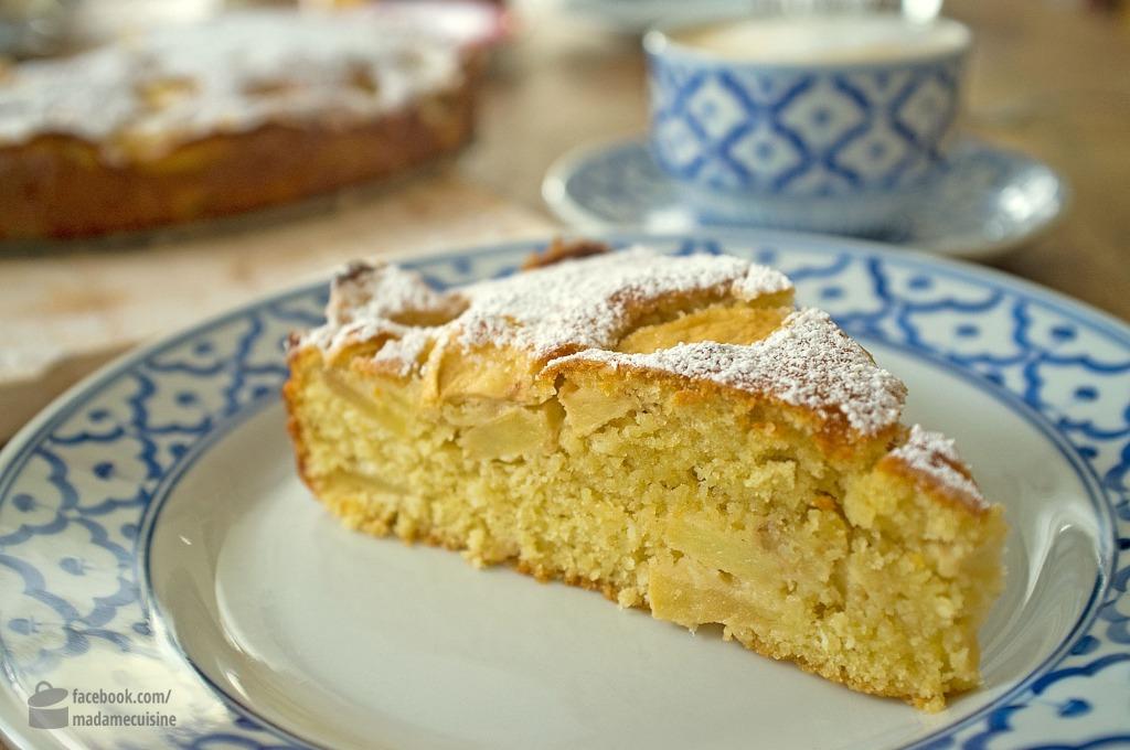 apfel kokos apfel kuchen madame cuisine
