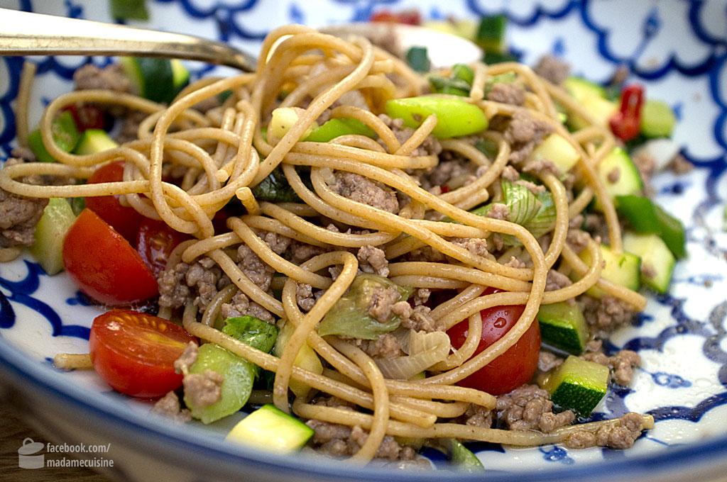 Warmer Asiatischer Nudelsalat | Madame Cuisine Rezept