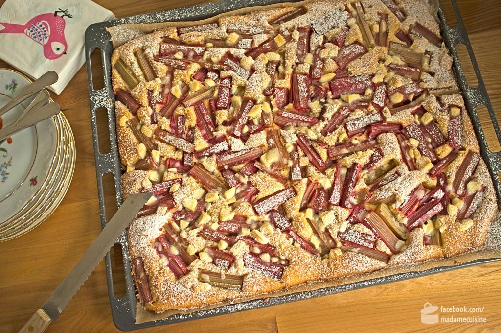 Rhabarberkuchen mit weißer Schokolade | Madame Cuisine Rezept