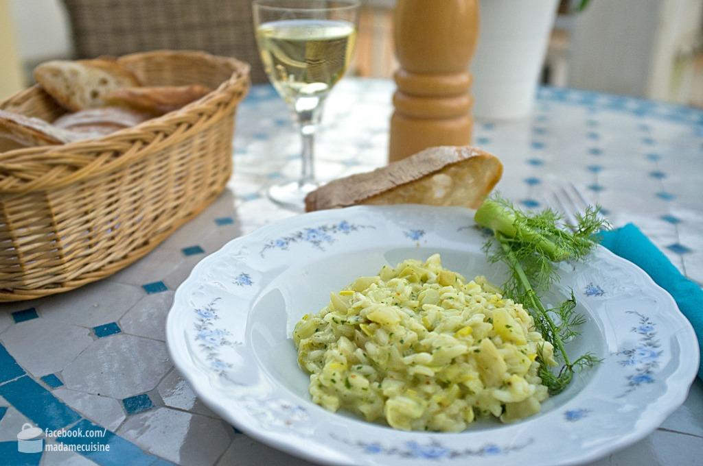 Lauch-Fenchel-Risotto mit Petersilienpesto | Madame Cuisine Rezept