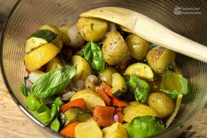 Mediterrane Ofenkartoffeln mit Gemüse | Madame Cuisine