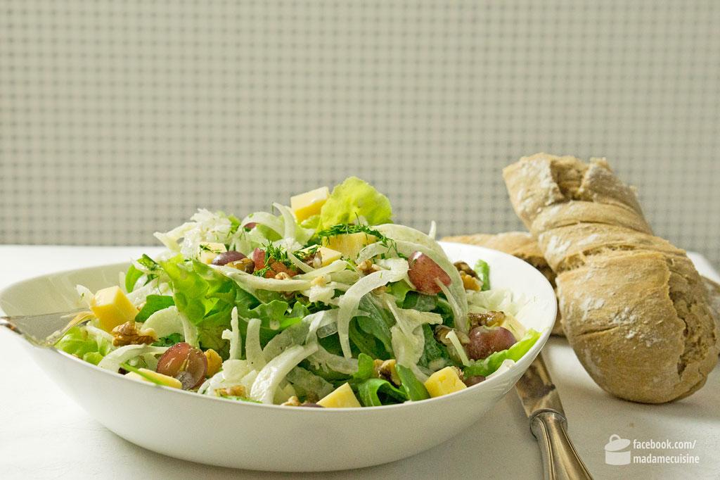 Herbstsalat mit Fenchel & Walnüssen   Madame Cuisine