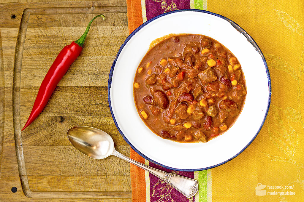 Chili Con Carne Mit Rindfleisch Madame Cuisine