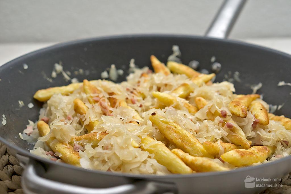 Schupfnudelpfanne mit Sauerkraut und Speck   Madame Cuisine