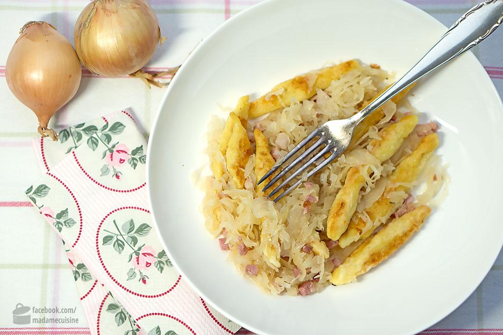 Schupfnudelpfanne mit Sauerkraut und Speck | Madame Cuisine Rezept