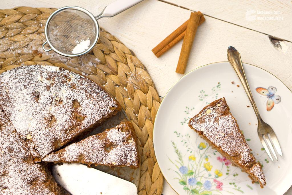 Winterlicher Birnen-Nuss-Kuchen | Madame Cuisine Rezept