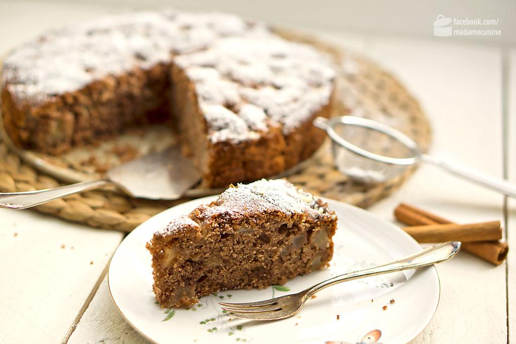 Winterlicher Birnen Nuss Kuchen Madame Cuisine
