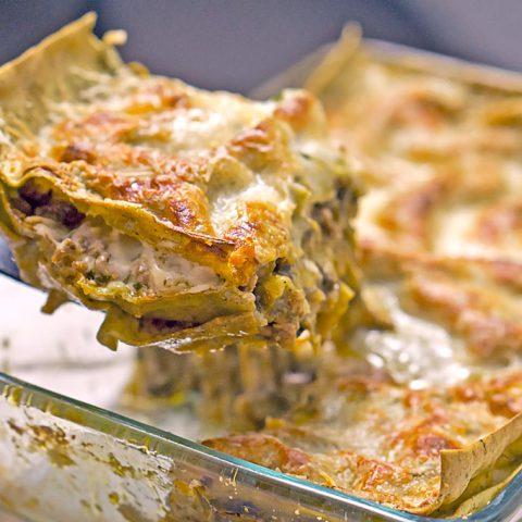 Grüne Lasagne mit Hackfleisch | Madame Cuisine