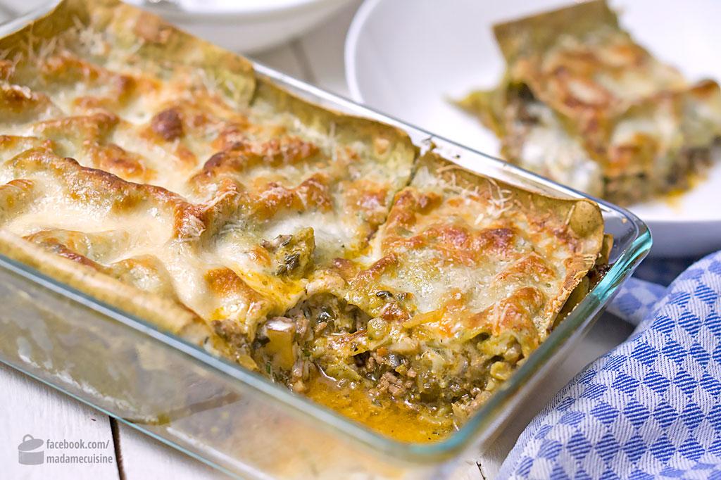 Grüne Lasagne mit Hackfleisch | Madame Cuisine Rezept