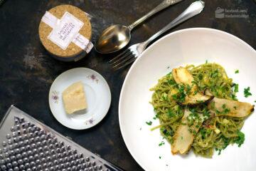 Grüne Bandnudeln mit Kräuterseitlingen | Madame Cuisine