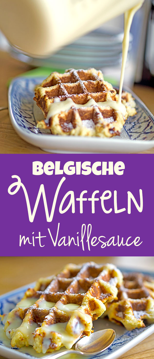 belgische waffeln mit vanilleso e madame cuisine. Black Bedroom Furniture Sets. Home Design Ideas